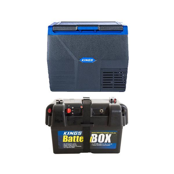 Kings 35L Fridge / Freezer  + Battery Box