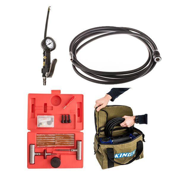 Kings 3in1 Ultimate Air Tool + Thumper Air Hose Extension 4m + Canvas Thumper Bag + Hercules Tyre Repair Kit