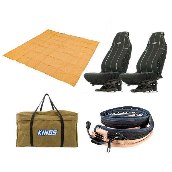 Adventure Kings - Mesh Flooring 3m x 3m + Adventure Kings LED Strip Light + Heavy Duty Seat Covers + BBQ Canvas Bag