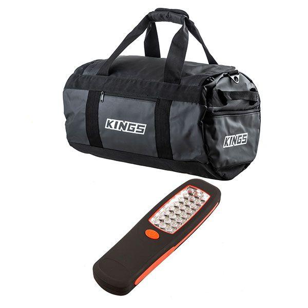 Kings 40L Large PVC Duffle Bag + Illuminator 24 LED Work Light