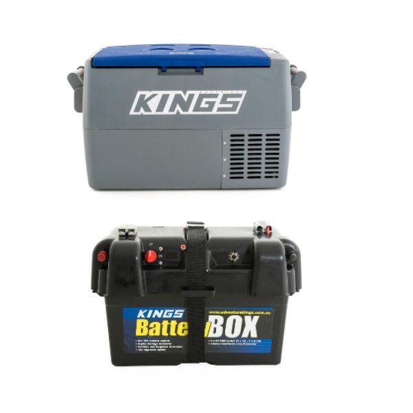Adventure Kings 45L Camping Fridge + Adventure Kings Battery Box