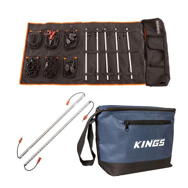 Adventure Kings Complete 5 Bar Camp Light Kit + Orange LED Camp Light Extension Kit + Cooler Bag