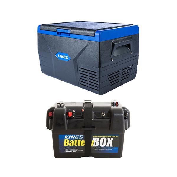 Kings 50L Fridge / Freezer + Battery Box