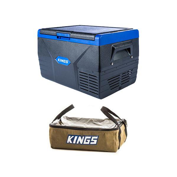 Kings 50L Fridge / Freezer + Adventure Kings Clear Top Canvas Bag