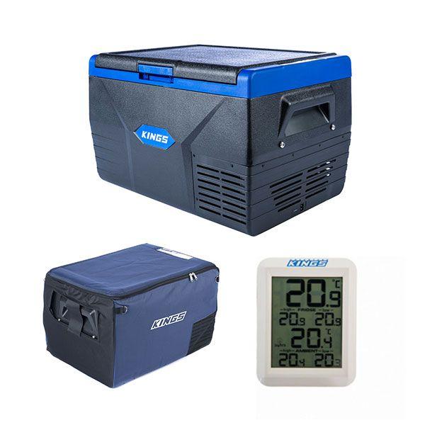 Kings 50L Fridge / Freezer +  50L Fridge Cover + Adventure Kings Wireless Fridge Thermometer