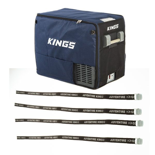 Adventure Kings 60L Camping Fridge Cover + Fridge Tie Down Straps (4 pack)