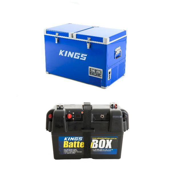 Adventure Kings 70L Camping Fridge + Battery Box