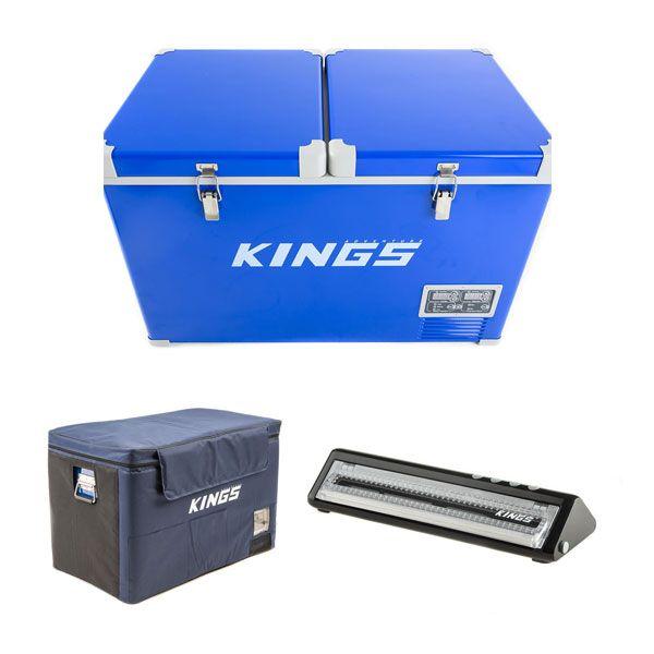 Adventure Kings 70L Camping Fridge/Freezer + Adventure Kings 70L Camping Fridge Cover + Vacuum Sealer