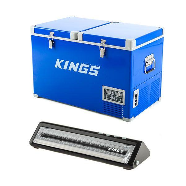 Adventure Kings 70L Camping Fridge + Vacuum Sealer