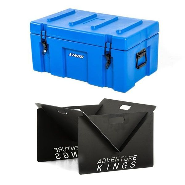 Adventure Kings 78L Tough Tool Box + Portable Steel Fire Pit