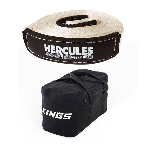 Hercules - 8000kg Snatch Strap + Adventure Kings 40L Duffle Bag