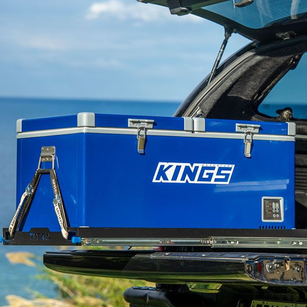 Kings 90L Camping Fridge Freezer   Dual Zone   Secop Compressor   144 Can Capacity   12V/24V/240V
