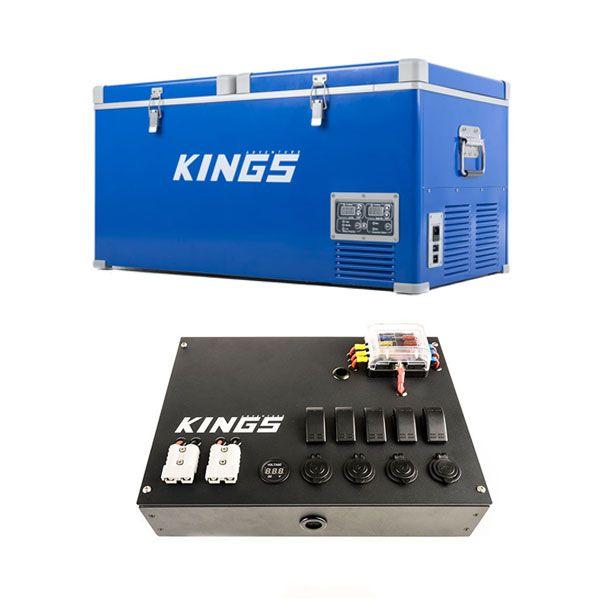 Kings 90L Camping Fridge Freezer + 12V Control Box