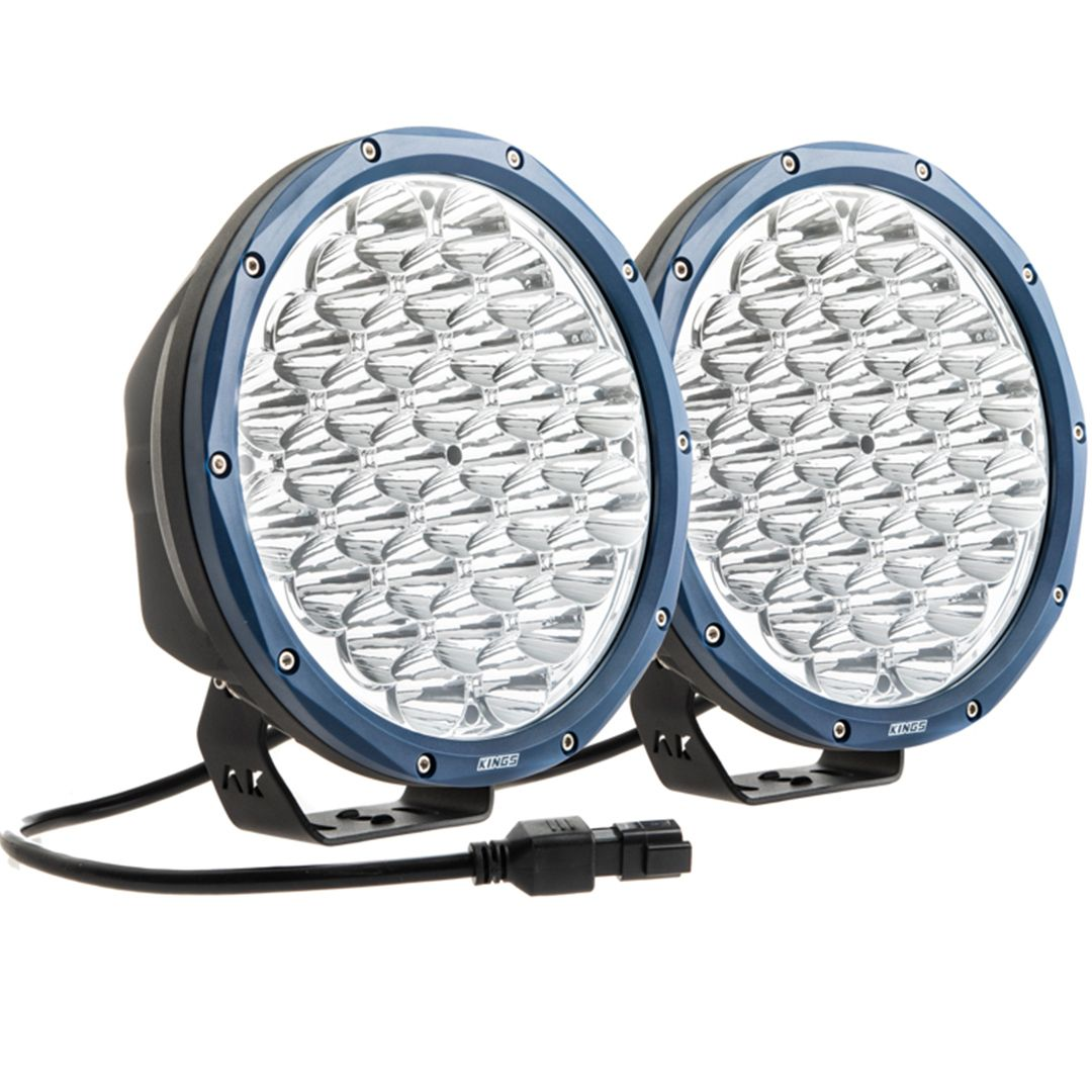"Kings OSRAM Domin8r X 9"" LED Driving Lights (Pair) 