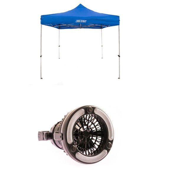 Adventure Kings - Gazebo 3m x 3m + 2in1 LED Light & Fan