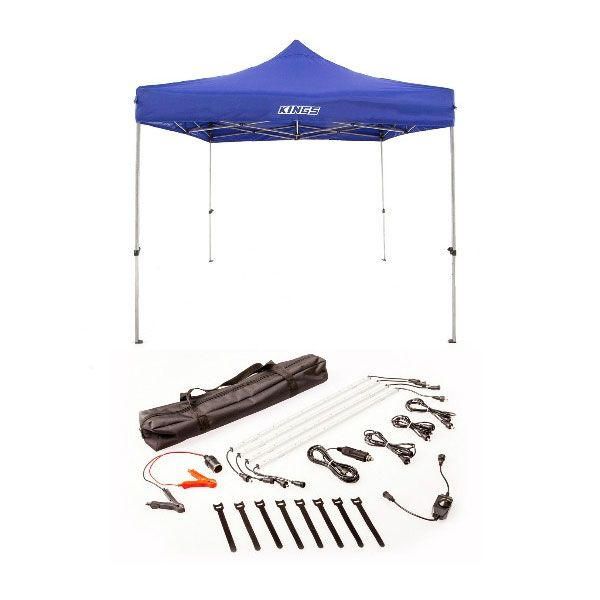 Adventure Kings - Gazebo 3m x 3m + Illuminator 4 Bar Camp Light Kit