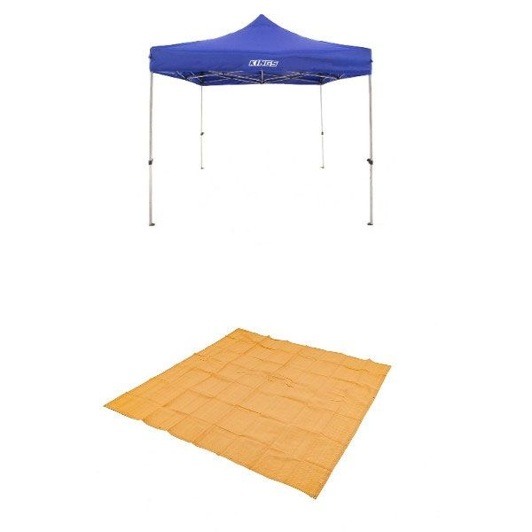 Adventure Kings - Gazebo 3m x 3m + Mesh Flooring 3m x 3m