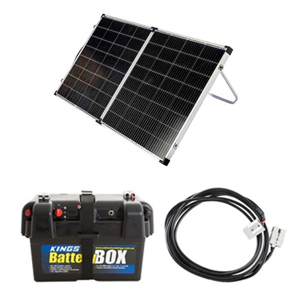 Kings Premium 160w Solar Panel with MPPT Regulator + Battery Box + 10m Lead For Solar Panel Extension