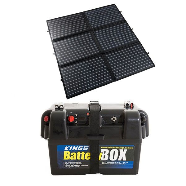 Adventure Kings 200W Portable Solar Blanket + Adventure Kings Battery Box