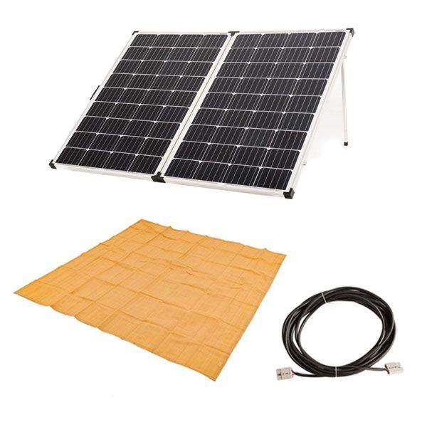 Adventure Kings 250w Solar Panel + Mesh Flooring 3m x 3m + 10m Lead with Solar Panel Extension