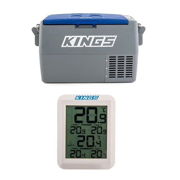 Adventure Kings 45L Camping Fridge + Adventure Kings Wireless Fridge Thermometer