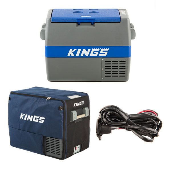 Adventure Kings 60L Camping Fridge + 60L Camping Fridge Cover + 12V Fridge Wiring Kit