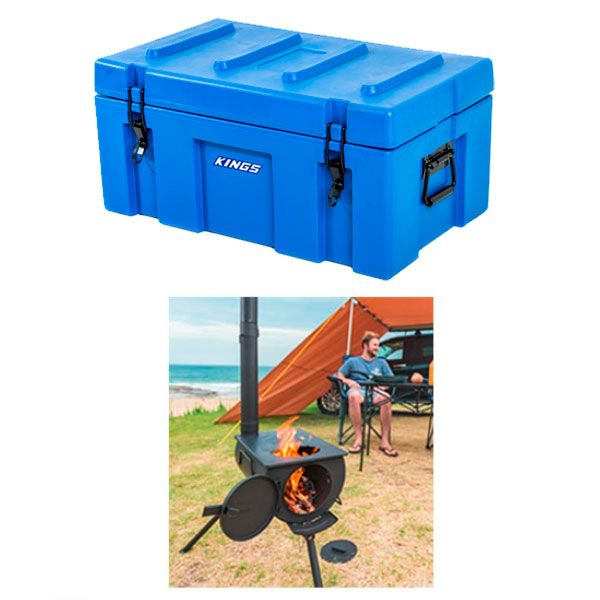 Adventure Kings 78L Tough Tool Box + Camp Oven/Stove