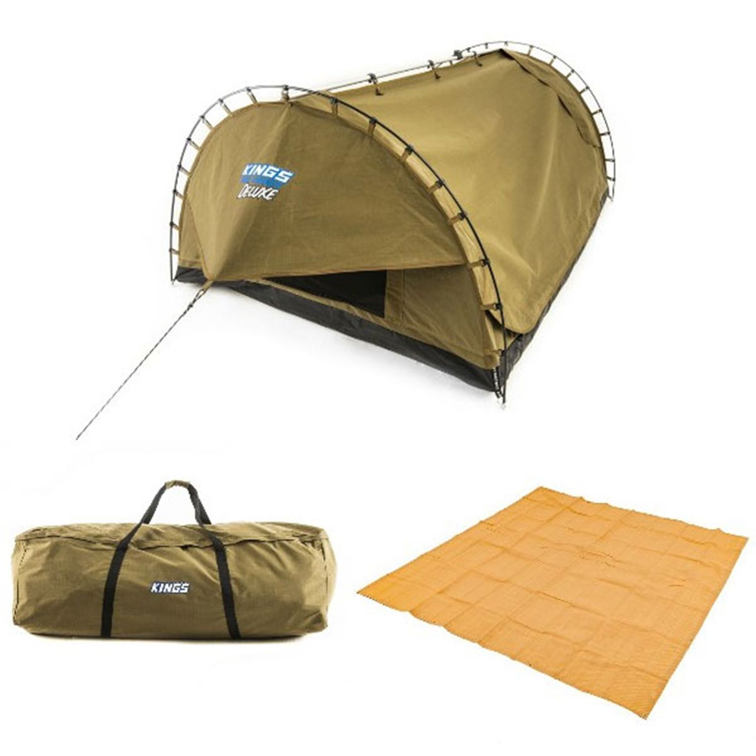 Adventure Kings 'Big Daddy' Deluxe Double Swag + Swag Canvas Bag + Mesh Flooring 3m x 3m