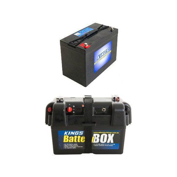 Adventure Kings AGM Deep Cycle Battery 115AH + Battery Box