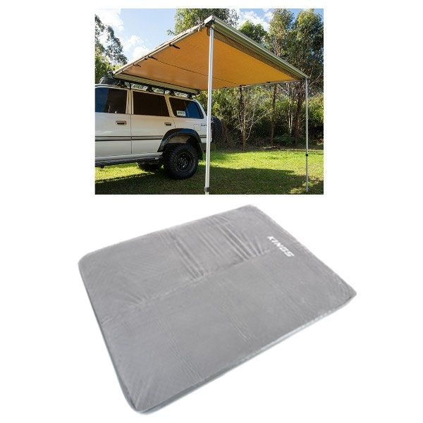Adventure Kings Awning 2.5x2.5m + Adventure Kings Self Inflating 100mm Foam Mattress - Queen