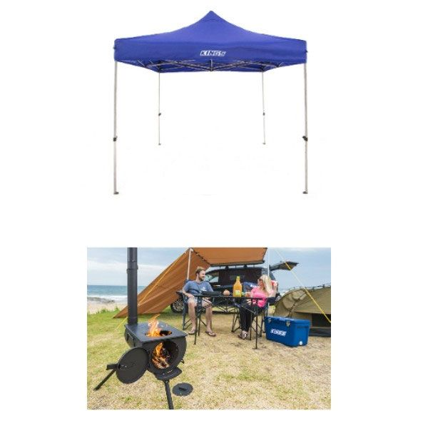 Adventure Kings Camp Oven/Stove + Adventure Kings - Gazebo 3m x 3m