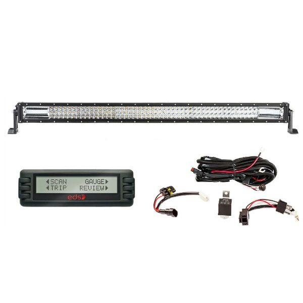 """Adventure Kings Domin8r 42"""" LED Light Bar + Wiring Harness + Engine Data Scan Computer"""