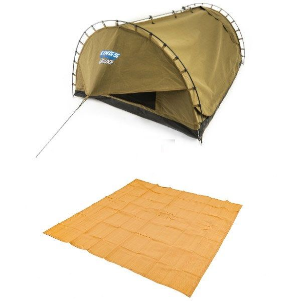 Adventure Kings Double Swag Big Daddy Deluxe + Adventure Kings - Mesh Flooring 3m x 3m