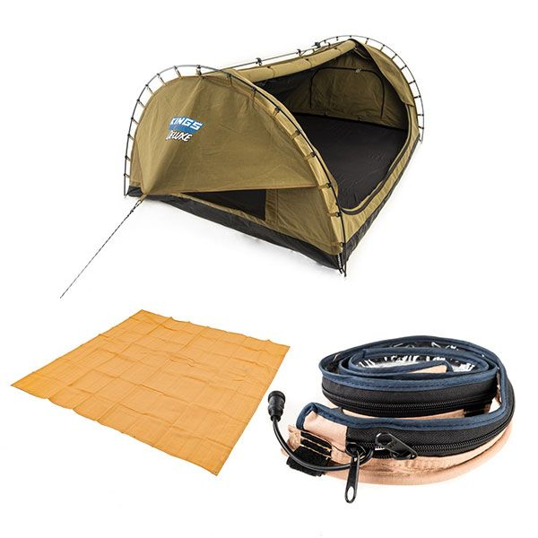 Adventure Kings Double Swag Big Daddy Deluxe + Adventure Kings LED Strip Light + Adventure Kings - Mesh Flooring 3m x 3m