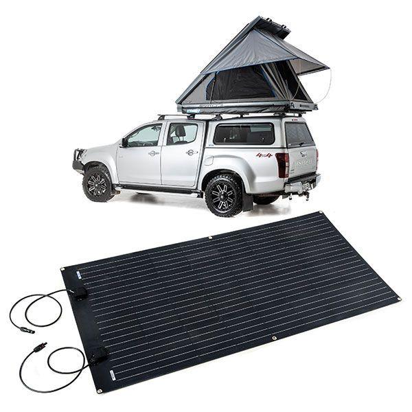 Grand Tourer MKII Aluminium Rooftop Tent + Adventure Kings 160W Semi-Flexible Solar Panel