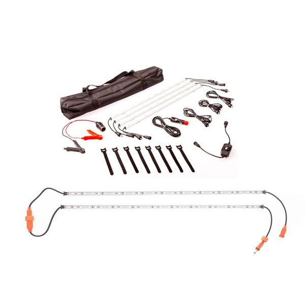 Adventure Kings Illuminator 4 Bar Camp Light Kit + Orange LED Camp Light Extension Kit