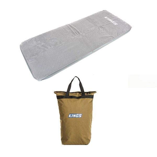 Adventure Kings Self-Inflating Foam Mattress - Single + Doona/Pillow Canvas Bag