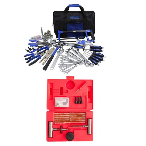 Adventure Kings Tool Kit - Ultimate Bush Mechanic + Hercules Tyre Repair Kit