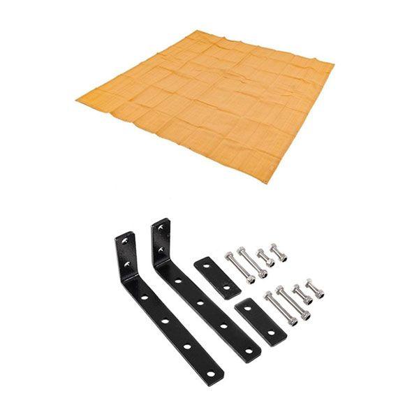 Awning Mounting Brackets (Pair) + Mesh Flooring 3x3m
