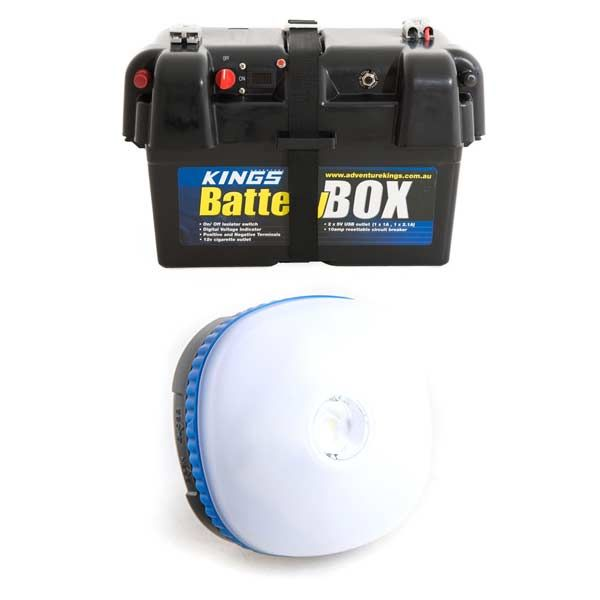 Adventure Kings Battery Box + Mini Lantern
