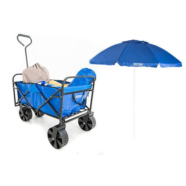 Adventure Kings Collapsible Cart + Adventure Kings Beach Umbrella