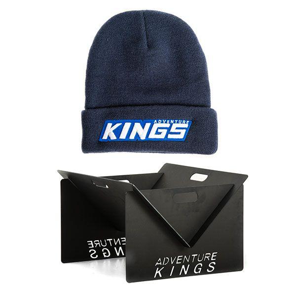 Kings Portable Steel Fire Pit + Camper's Beanie