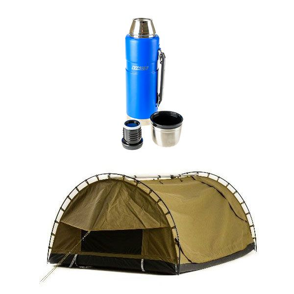 Adventure Kings Double Swag Big Daddy Deluxe + 1.2L Vacuum Flask