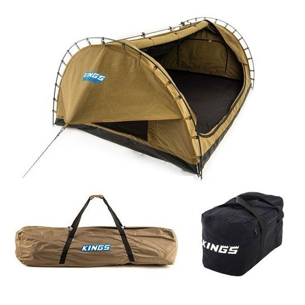 Kings Big Daddy Deluxe Double Swag + Polyester Swag Bag + 40L Duffle Bag