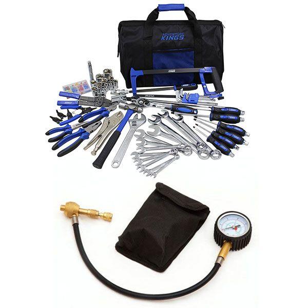 Adventure Kings Tool Kit - Ultimate Bush Mechanic + Tyre Deflator - Kwiky
