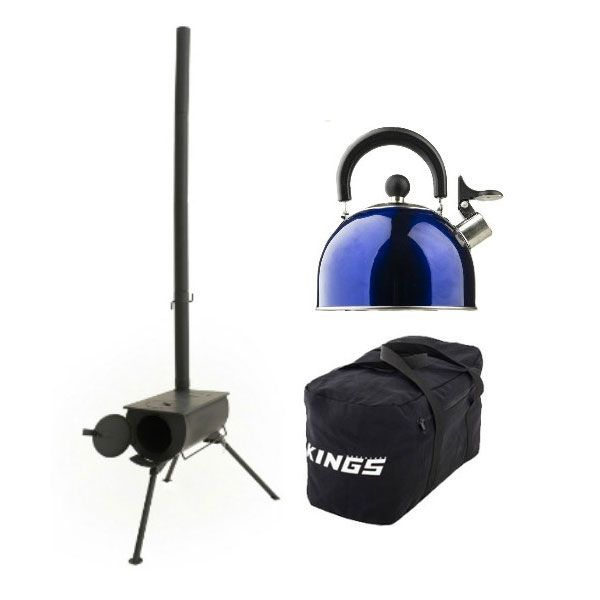 Adventure Kings Camp Oven/Stove + 40L Duffle Bag + Camping Kettle