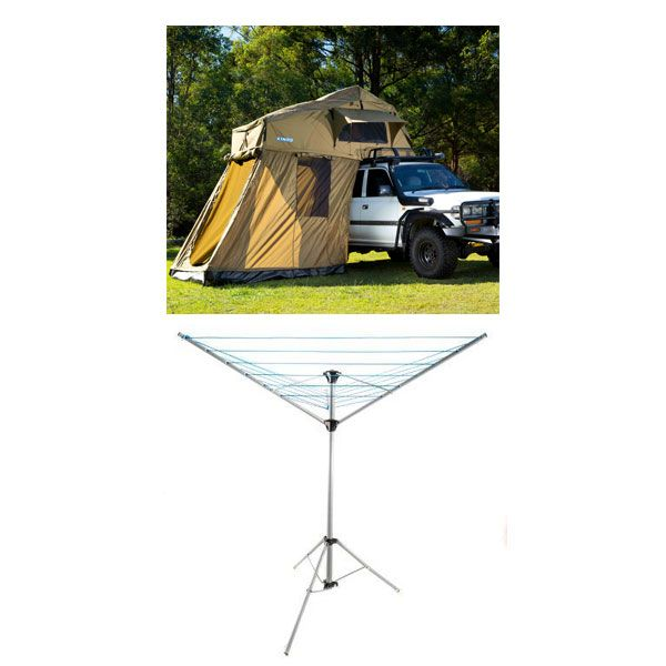 Adventure Kings Roof Top Tent + 4-man Annex + Kings Camping Clothesline