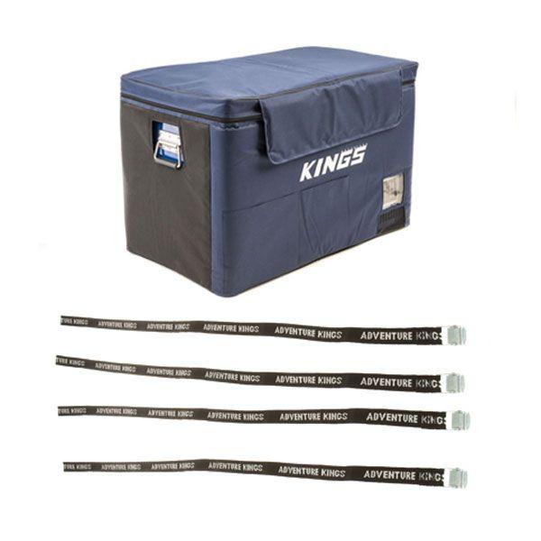 Adventure Kings 70L Camping Fridge Cover + Fridge Tie Down Straps (4 pack)