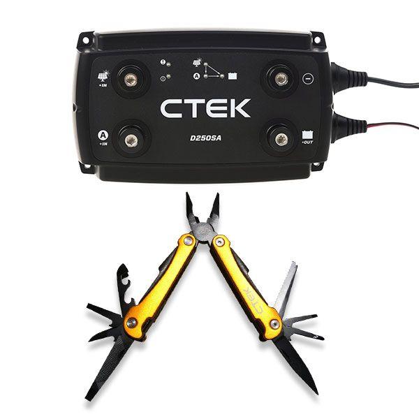 CTEK D250SA DC/DC 20A Dual Battery System/Solar Controller + CTEK Multi tool
