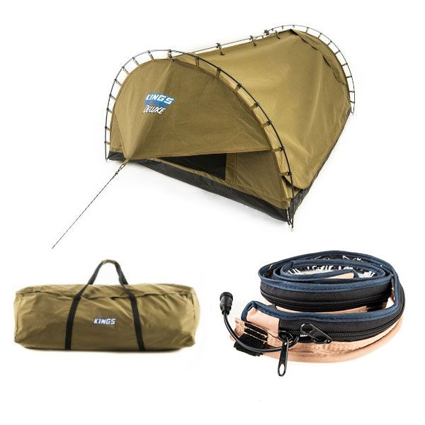 Adventure Kings 'Big Daddy' Deluxe Double Swag + Swag Canvas Bag + LED Strip Light